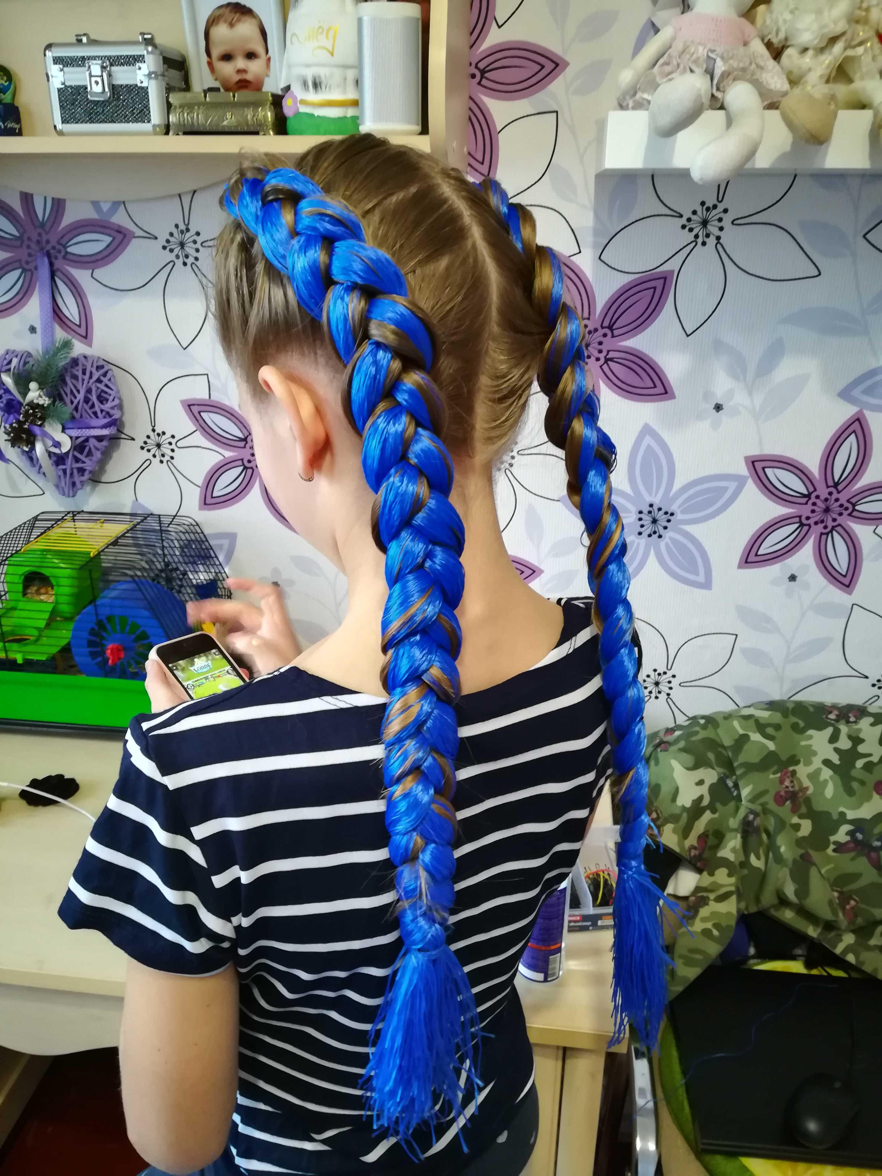 Коса из четырёх прядей: плетём красиво