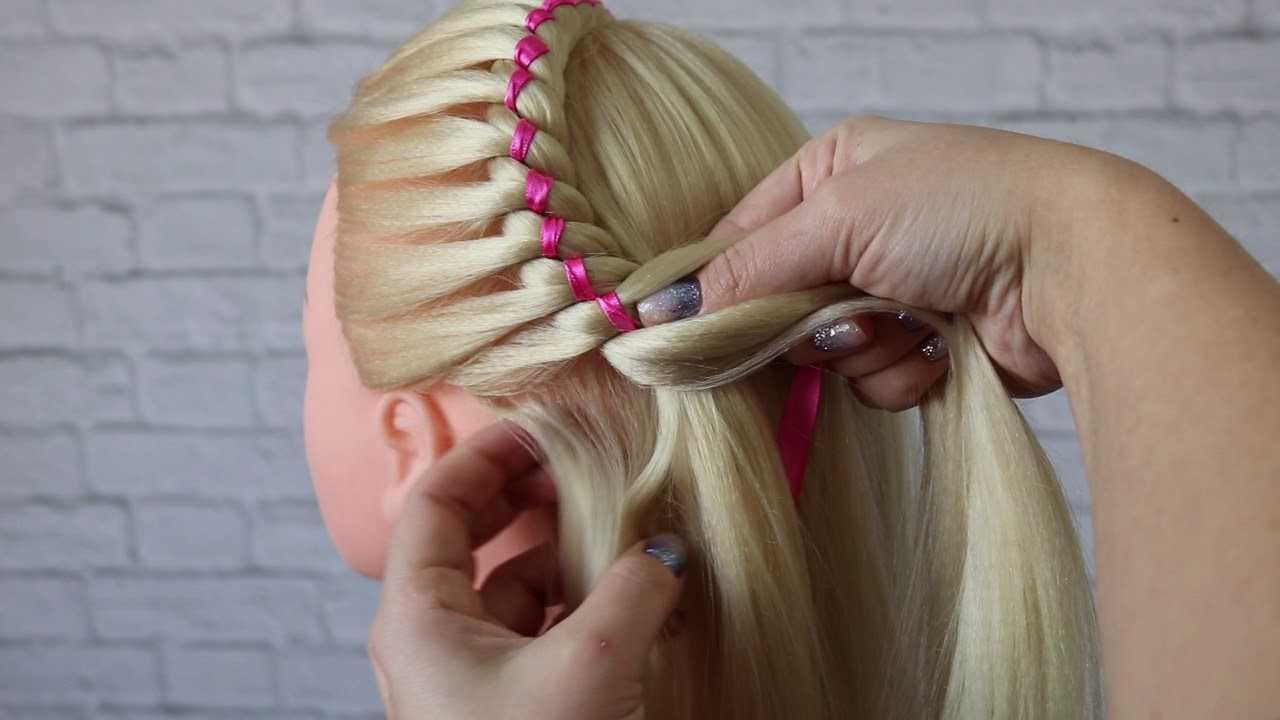 Плетение косы с лентой: пошаговые схемы для начинающих