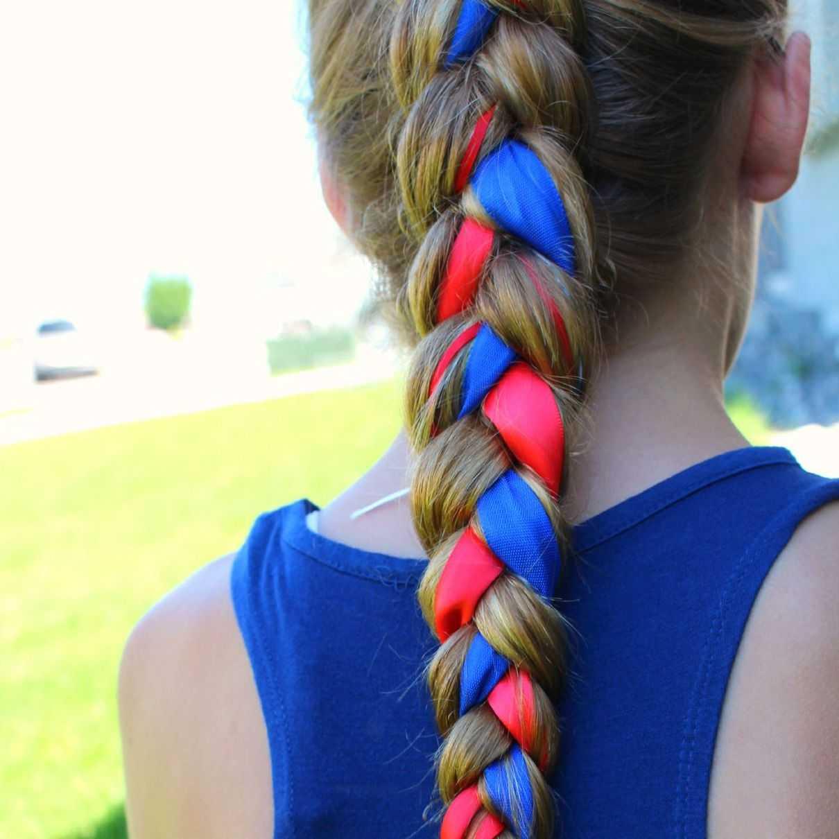 Как вплести ленту в косу на длинные волосы для начинающих