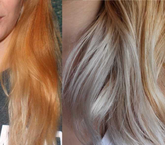 Как убрать рыжину с волос