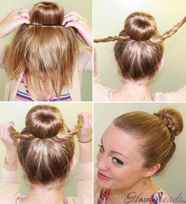 Прически с бубликом: создаем иллюзию густых волос