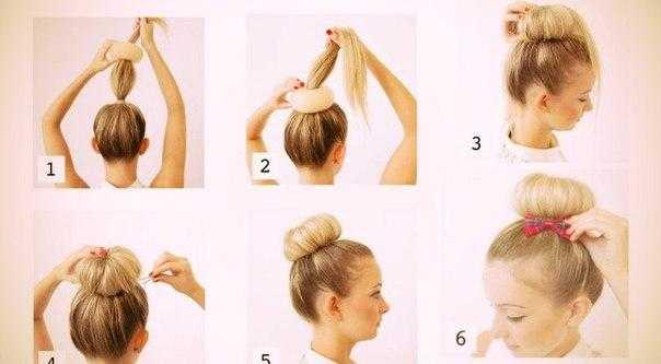 Мода большого города: как делать пучок с бубликом на любую длину волос?
