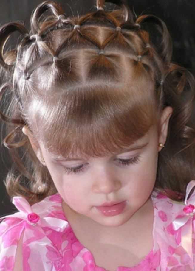 Детские причёски на выпускной в детском саду