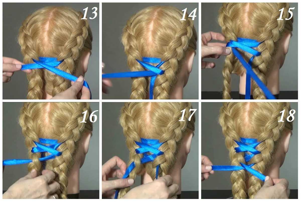 Плетение кос: идеи причесок, пошаговые фото и схемы плетения