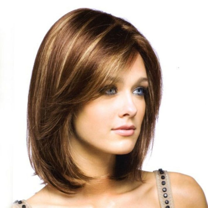 Двойное каре на волосы разной длины