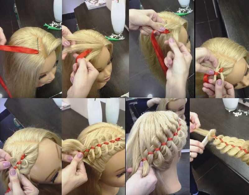 Как вплести ленту в косу – схема плетения для девочек, как заплести на длинные волосы