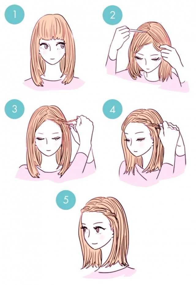 Модные стрижки с челкой на средние волосы фото подборка, стрижки на средние волосы с косой и длинной челкой