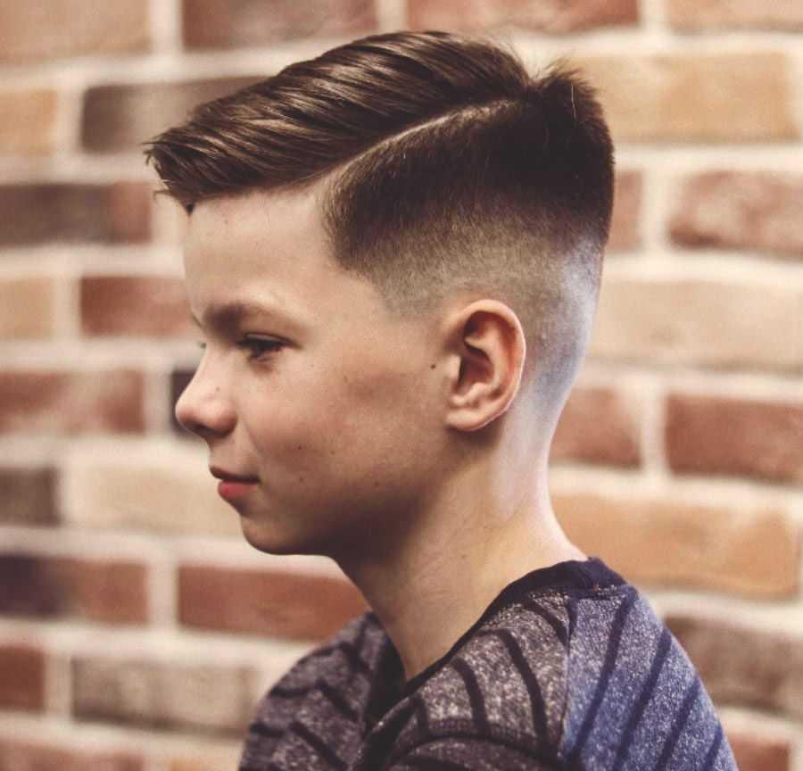 Фото модной причёски для мальчиков 12 лет