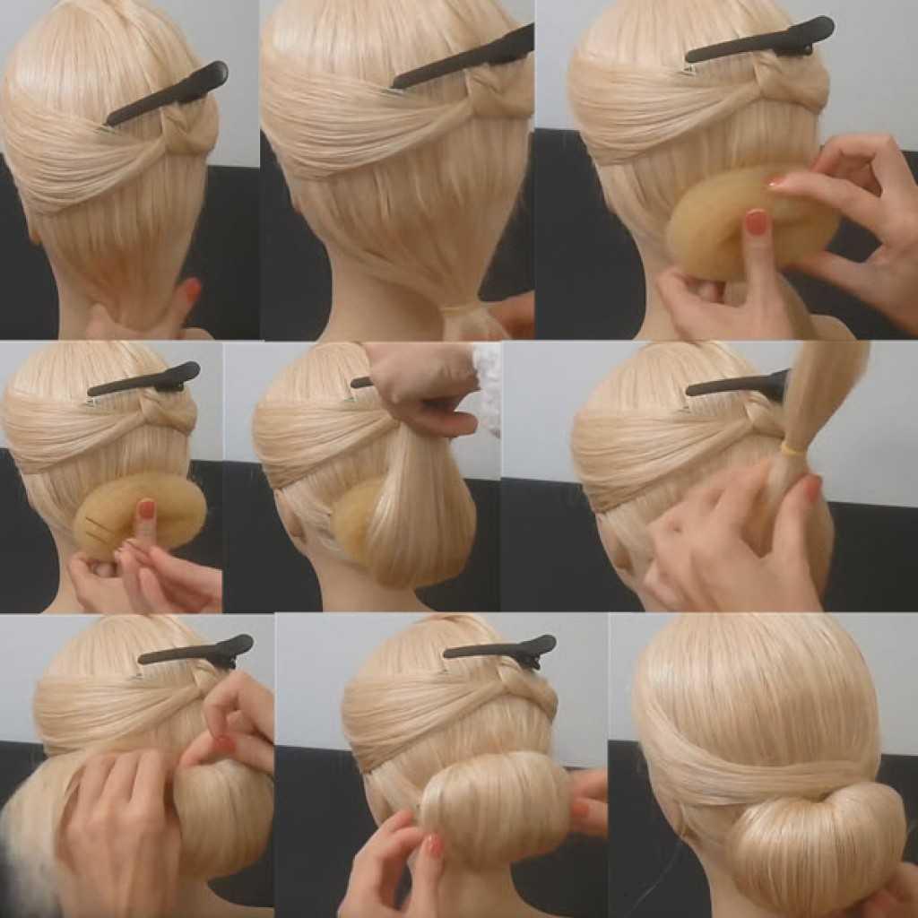 Бублик для волос и красивый пучок с ним — за 7 шагов!