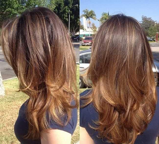 Градуированная стрижка на длинные волосы