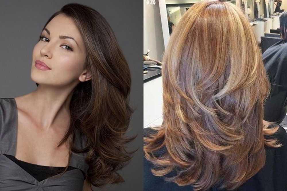Градуированные стрижки на средние волосы